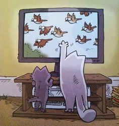 make the little guy bigger, fatter, and change his color and we're in business Catsparella: Simon's Cat