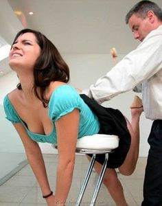 Submissive girls are spanked