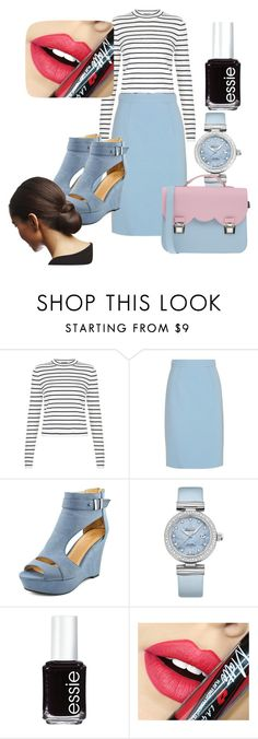 """Blue details"" by dzenita-219 on Polyvore featuring Miu Miu, OMEGA, Essie, Fiebiger, La Cartella, women's clothing, women, female, woman and misses"
