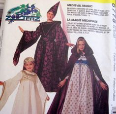 McCALLS Sewing Pattern Costume 6775 - Size Misses Medium - MEDIEVAL COLLECTION COSTUMES