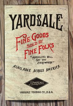 people - make note of your yardsale signs... Illustration by Jon Contino