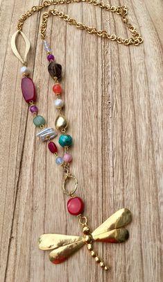 Material- semi-precious stones, gold plating