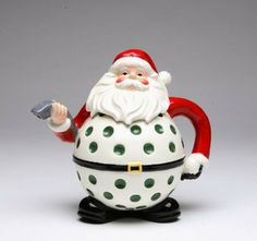 Appletree Design Golf Santa Teapots, 7-1/4-Inch Tall : Amazon.com : Kitchen & Dining