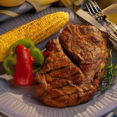 Grilled Honey Pork Steaks... can also use pork chops