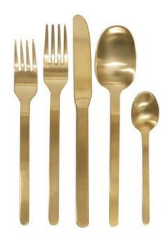 Add a touch of festivity to the table with our new Domino Cutlery Set in a brushed gold finish. With European sizing and design, our gold stainless steel flatware has a continental flavor with classic shapes updated for modern living. Available at shopnectar.com