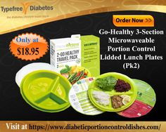 Order Now, Go-Healthy 3-Section Microwaveable Portion Control Lidded Lunch Plates (Pk2). 100% microwave safe – dishwasher safe.Visit at https://www.diabeticportioncontroldishes.com