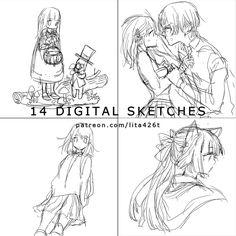 14 Digital Sketches : 20171113 | Tachibana Lita on Patreon