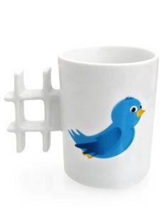 Ständig auf #Twitter? Dann ist diese #Hashtag #Tasse das richtige #Geschenk!