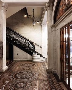 Don't miss historic details when you check in 🕰 Our mosaic floors, woodwork, stained glass, and masonry are original details dating back to 1893.  📷: @navy_sunday