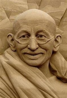 Gandhi Sand Sculpture