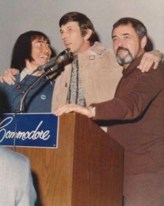 George Takei, Leonard Nimoy & James Doohan at the International Star Trek Convention - Commodore Hotel, NYC 1973. Yes, I was there. Nimoy was a surprise guest.