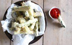 Knapperige courgette frietjes