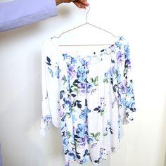 Floral top, floral blouse, summer blouse, bardot top, floral bardot top, summer outfit, cute summer tops Floral Blouse, Floral Tops, Cute Summer Tops, Bardot Top, Summer Blouses, Summer Outfits, Seasons, Boutique, Women
