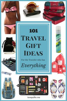 The ULTIMATE travel gift list, with 101 travel gift ideas including some you'll never have thought of before.  Perfect for the traveler in your life this Christmas.
