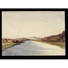 "Watercolour - `River.  3 Mile [N] of Saboua  Nubia ""On the Nile"""