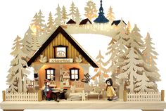 I love the idea of German Christmas decor and traditions. This is meant to be lit and put against the window. So beautiful!