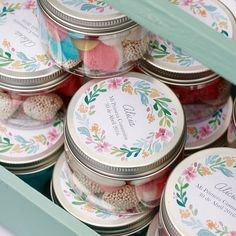 Wedding Favours, Party Favors, Happy Jar, First Communion Favors, Craft Packaging, Packaging Ideas, Baptism Candle, Candy Shop, Candy Jars