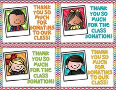 I use these cards to thank parents for donating to our classroom. I hope you can use them too!These Cards are Part of the File Below Classroom Wish List Selfies Set 2