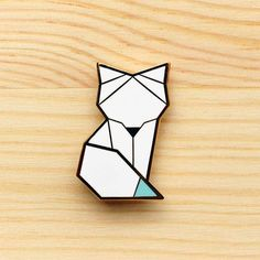 Image of Arctic Series – Arctic Fox Brooch *NEW*
