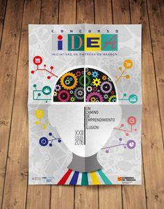 Cartel A3 concurso IDEA 2016. Branding, Ideas, Pink, Corporate Identity, Photomontage, Design Web, Illusions, Poster, Libros