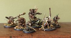 Some of Blanche's latest miniature works - gothic punk