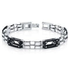 MSRP: $149.99  Our Price: $79.99  Savings: $70.00    Availability: Usually Ships in 5 Business Days    Item Number: SB4280    PRODUCT DESCRIPTION:    This stylish Stainless Steel bracelet will be a guaranteed favorite for your jewelry collection. The matte black accentuates the polished finish of the links and creates a high-end jewelry vibe. The links are constructed with a combination of black plated and polished Stainless Steel. The easy-to-wear folding clasp completes the look with a…