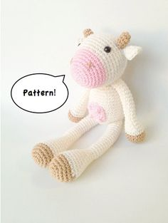 Amigurumi Cow Pattern Crochet Cow Pattern by MarigurumiShop, €4.00