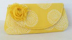 Clutch for bridesmaids in yellow, Bridesmaids clutch, sunbeam wedding, Citrus wedding colors, yellow clutch
