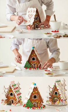 Hallmarker Bernard teaches us how to make an easy yet spectacular Homemade Gingerbread House with step-by-step photos to walk you through this classic Christmas must-do.