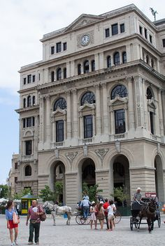 Havana antigua. Cuba.  Plaza de San Francisco