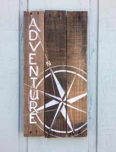 This is an awesome rustic adventure sign for all those outdoor adventure types. A perfect gift for the hiker or outdoors man or any adventurer