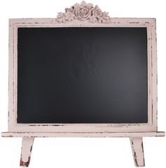 """Distressed Wood Framed Table Top Chalkboard Sign 21.5""""x19"""" (Shabby Pink) Home Office Collection. Click Image for more information."""