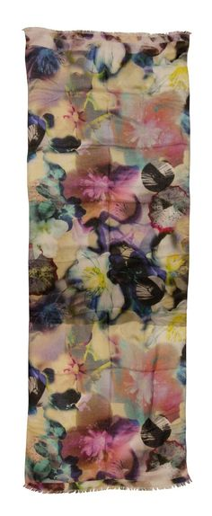 Dragon Anemone's are scattered romantically over this silky scarf.  http://www.bloomsburystore.com