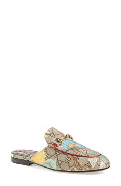 Gucci 'Princetown' Floral Print Mule Loafer (Women) available at #Nordstrom