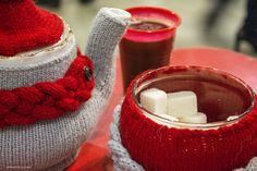 Cozy teapot and sugar-bowl