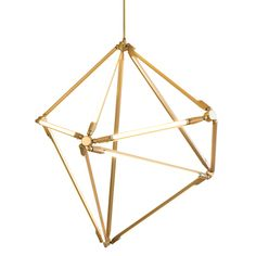 This spare, modular chandelier's thin LED tubes define its 1970s throwback vibe.    Read more: http://www.dwell.com/products/shy-light.html#ixzz1sKtrj9JE