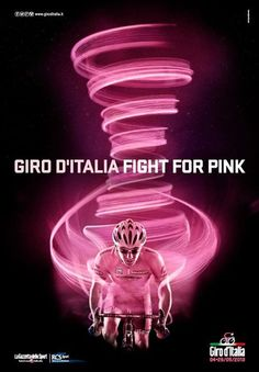 Giro 'fight for pink' - artwork Bicycle Art, Cycling Art, Grand Tour, Travel Posters, Art Blog, Adventure, Biking, Girl Bike, Sports Posters