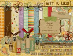Friday's Guest Freebies- Shabby Princess -Free digital scrapbook kit
