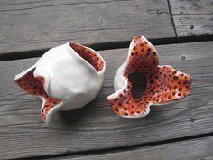 Aquarium Plant Holders - Ceramic Tank Decor - Aquarium Decorations - Terrarium Decor - Ceramics and Pottery - Small Sculptures - Outdoor Art by WhiteCitrus on Etsy