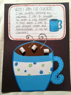 When I drink hot chocolate craftivity and writing. Would be great on a cold day for a hot chocolate party.