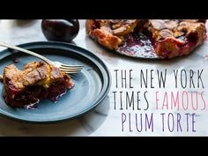 Nicole Gaffney aka Coley teaches you how to make The New York Times Famous Plum Torte! This recipe, first published in the New York Times in 1982 has become . Plum Torte, Plum Pie, Baking Recipes, Cake Recipes, Dessert Recipes, Summer Desserts, Summer Recipes, Burritos, Plum Recipes