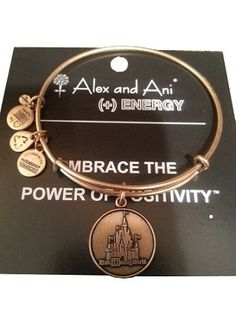 Disney Bracelet - Walt Disney World Castle Charm - Alex and Ani - Gold