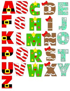 LOTS OF HOLIDAY ALPHAS--Christmas Alphabet Digital File Instant by MyLittleMonkeysGifts