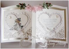 Laney's Place: Wedding Book and Box Wedding Day Cards, Wedding Cards Handmade, Wedding Anniversary Cards, Wedding Book, Handmade Cards, Cake Wedding, Wedding Ideas, Card Book, I Card