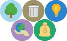 Flat Icons Sustainability - Jasper den Ouden
