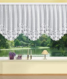 Lion Images, Curtain Designs, Home Fashion, Valance Curtains, House Styles, Room, Home Decor, Blinds, White Tulips