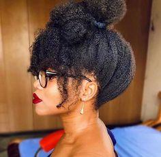 Pelo Natural, Natural Hair Updo, Natural Hair Blowout Styles, Natural Hair Styles For Black Women, Natural Hair Inspiration, Afro Hairstyles, Natural Hairstyles Photos, Type 4c Hairstyles, Hair Dos