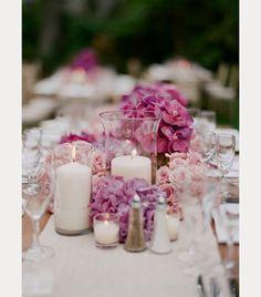 Hydrangea Wedding Centerpiece ~ we ❤ this! moncheribridals.com