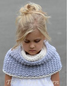 KNITTING PATTERN-The Windyn Cowl Toddler Child Adult sizes