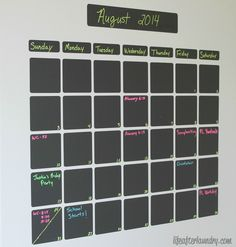 DIY Chalkboard Vinyl Calendar | a fun and easy Silhouette project - Life After Laundry